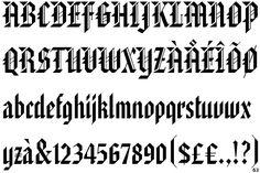 german black letter font | Fontscape Home > International > German > Gothic