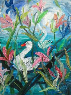 """""""Two duck"""" by Nada Sucur Jovanovic. Paintings for Sale. Bluethumb - Online Art Gallery"""