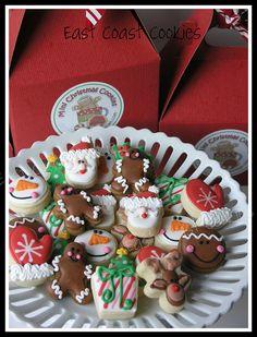 Mini Christmas Cookies 2011 by East Coast Cookies, via Flickr