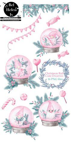 Pink Christmas Tree, Christmas Makes, Christmas Art, Christmas Illustration, Cute Illustration, Digital Illustration, Christmas Clipart, Christmas Printables, Diy Xmas
