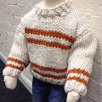 Free knitting pattern: Chunky Striped Sweater