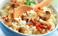 Ρύζι με μπέικον και μανιτάρια - iCookGreek
