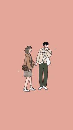 Cute Couple Drawings, Cute Couple Art, Cute Drawings, Cute Couples, Love Cartoon Couple, Cute Love Cartoons, Cartoon Girl Drawing, Girl Cartoon, Couple Illustration