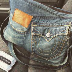 100 Repurposed Denim Projects. DIY Jeans BAG