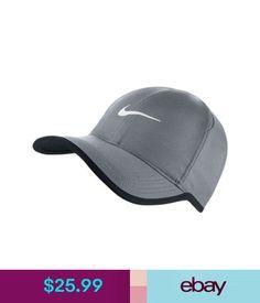 96b7f25e183 Hats Nike Dri-Fit Feather Light Running Tennis Hat Cap Grey White 679421  Gray  ebay  Fashion