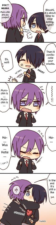 Murasakibara and Himuro :3