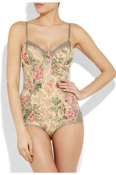ZIMMERMANN  Devoted floral-print swimsuit ... looks like lingerie