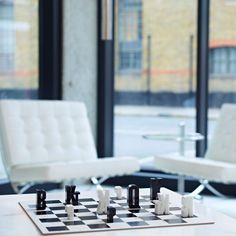 A typographic chess set based on chess notation by British design agency Hat-Trick Design | #design #product #type | www.hat-trickdesign.co.uk