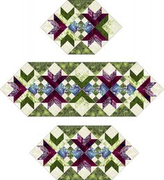 Goose Tracks Mats and Runners Pattern TRQ-115 from Quilt Woman
