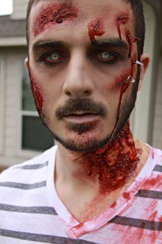 zombie, zombie makeup, Halloween makeup, halloween, www.sunkissedandmadeup.com #zombie #halloweenmakeup