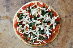 Easy Vegan Gluten-Free Chickpea Crust Pizza- quick and easy to make. Dairy-free, wheat-free healthy pizza.