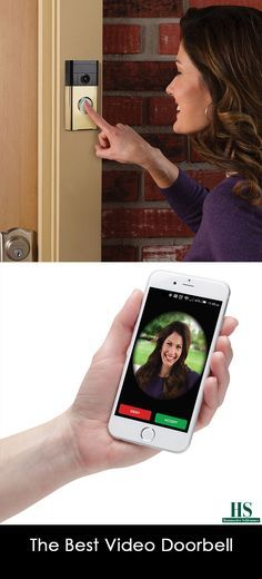 This is the video doorbell that earned The Best rating from the Hammacher Schlemmer Institute because of its easy installation and superior video quality. Unlike other models that must be hardwired into an existing doorbell system, The Best model attaches to a door with the included hardware and connects to a home's wireless network.