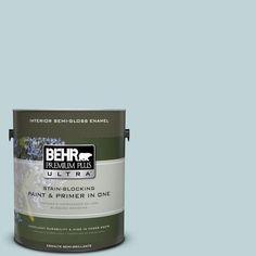 BEHR Premium Plus Ultra 1-gal. #500E-3 Rain Washed Semi-Gloss Enamel Interior Paint
