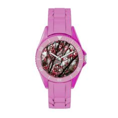 Cherry Blossoms Sporty Watch