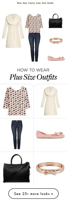 """Plus Size Curvy Late Fall Outfit"" by jessicasanderstx on Polyvore featuring JunaRose, H&M, J.W. Anderson, Melissa, Paul & Joe and Betsey Johnson"