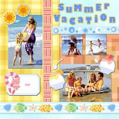 Free Beach Vacation Scrapbook Layout Ideas