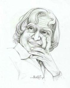 A P J Abdul Kalam Pencil Portrait, Portrait Sketches, Art Sketches, Apj Quotes, Life Quotes, Pencil Art, Pencil Drawings, Abdul Kalam, Most Popular Quotes