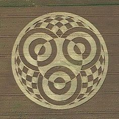 Crop circle at Raisting,Ammersee, Bavaria, Germany - 18 July 2014