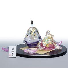 ガラスの雛人形|ガラスのひな人形|お雛様|桃の節句|手作り|送料無料