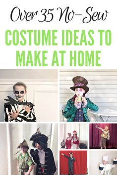 More than 35 costumes you can make at home - Four Plus an Angel