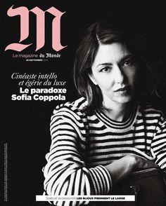 """Sophia Coppola par Jerry Schatzberg en couverture du n°106 de """"M, le magazine du Monde"""""""
