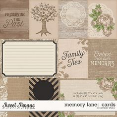 Memory Lane: Cards by Amber Shaw