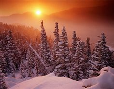 Mt. Wuh Sunrise, Mt. Wuh, Rocky Mountain National Park, Colorado, winter