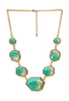 Show Off Ombré Faux Stone Necklace   FOREVER21 - 1000105869 => OMG!! #Fabulous