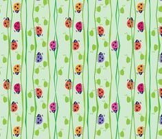 SUCH CUTE FABRIC BUT COST TO HIGH!!! My Little Helpers_Light fabric by spellstone on Spoonflower - custom fabric