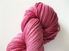 Hand dyed merino wool yarn, raspberry, 218 yards, knitting yarn, Oh raspberries! by ForeverWindingWool.com