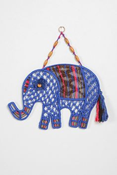 Magical Thinking Macrame Elephant Wall Art - Urban Outfitters
