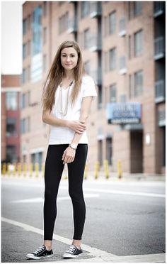 Black Chucks + leggings + a white tee = a fashion staple for all!