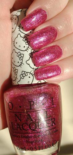 OPI's Hello Kitty Starry-Eyed for Dear Daniel Manicure