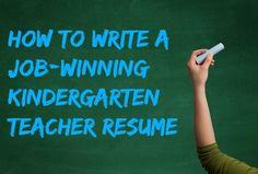 How to write a job-winning kindergarten teacher resume. Preschool Teacher Resume, Teacher Resume Template, Cv Template, Elementary Teacher, Teaching Resume Examples, Teaching Jobs, Teaching Ideas, Teacher Interviews, Job Interviews