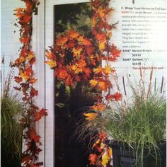 Harvest wreath $29.95 & garland $34.95 from plowandhearth.com tsp