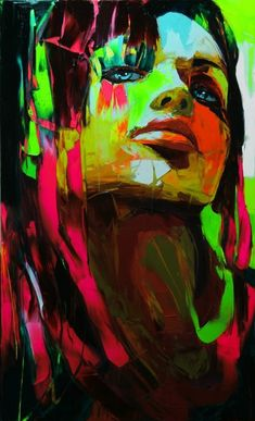 oil on canvas. palette knife. by francoise-nielly. in love with his art.