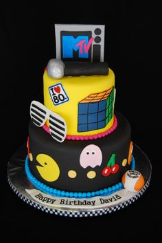 80's cake - perfect for those of us who were made in the 80s.  ;-)