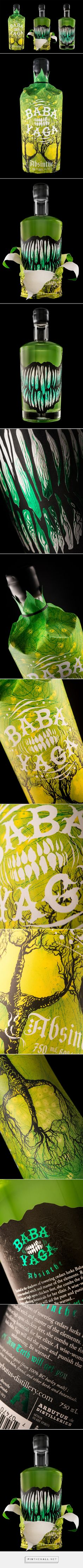 Baba Yaga Absinthe by Hired Guns Creative curated by Packaging Diva PD. Awesome packaging design to end your day created via http://hiredgunscreative.com/portfolio/baba-yaga/