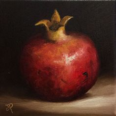 ARTFINDER: Pomegranate No. 2 by Jane Palmer - This is an Original oil painting, painted alla prima from life. Canvas board size -approx 15 x 15 cm (approx inch) Painted on Stretched canvas . Art Paintings For Sale, Animal Paintings, Floral Paintings, Oil Paintings, Painting Still Life, Still Life Art, Fruit Painting, Oil Painting On Canvas, Reference Photos For Artists