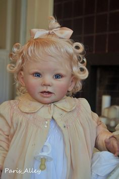 Sweet sold out Toddler BONNIE by Linda Murray OOAK   Baby Girl Doll.  Crystal's latest baby from Paris Alley on Ebay.