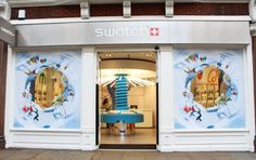 Swatch - Oxford Street - Window display