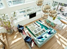 Home by Novogratz Eclectic Loft  - love the colors and mix of vintage and new furniture