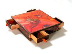 Marc Chagall French Orange Match Box Woman with by bigbangzero, $24.00