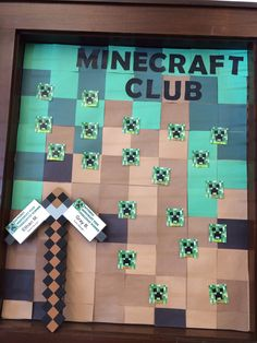 Library display for Minecraft Club