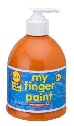 ALEX Toys Artist Studio Pump Finger Paint Orange