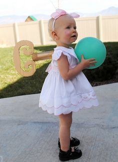 Wind-up baby doll costume.