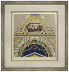 """""""Vatican Panel,"""" Ottaviani, Copperplate Engraving with Gouache. Framed to conservation standards with archival materials. Baptism Of Christ, State Of Grace, Double Glass, Last Supper, This Is Us Quotes, Antique Prints, Vatican, Online Gallery, Hand Coloring"""