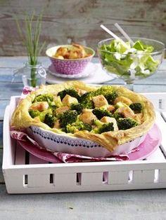 Lachs-Brokkoli Quiche