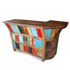 obsessed with this furniture... all made from old, recycled wood taken from fishing boats!