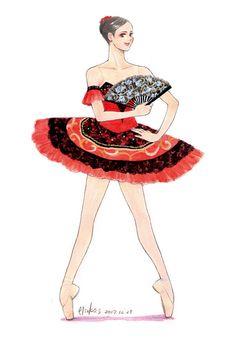Ballet Illustration, Illustration Sketches, Art Sketches, Ballerina Art, Ballet Art, Ballet Drawings, Ballet Fashion, Princess Zelda, Disney Princess